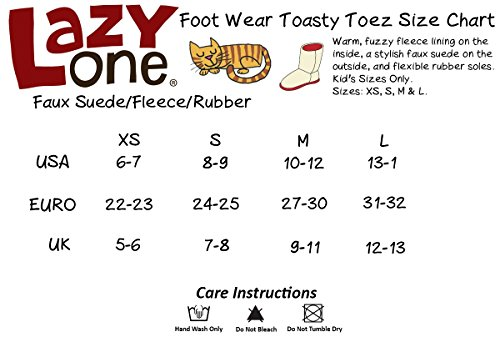 LazyOne Mädchen Cat Toasty Toez Slippers Kinder