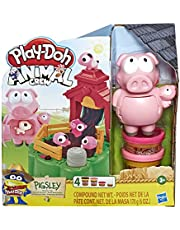 Play-Doh Animal Crew Pigsley and her Splashin' Pigs Farm Animal Playset with 4 Non-Toxic Play-Doh Colours