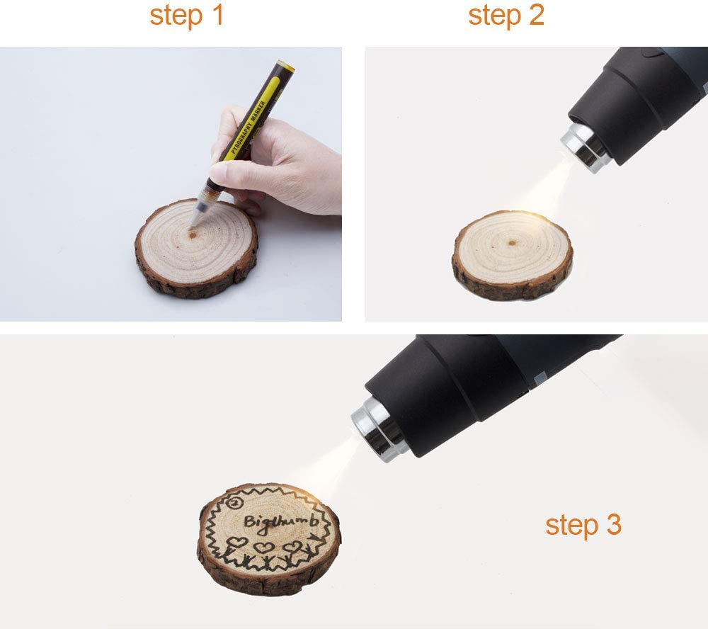 Wood Burned Marker Pen Instead of The Wood Burning Soldering Iron Tool,It Can Achieve The Effect of Scorch