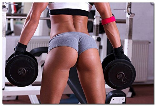 Tomorrow sunny Sexy Women Fitness Bodybuilding Motivational Silk Fabric Poster 24x36' 172