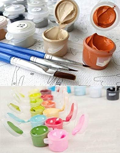 OAOBIU 数字によるDiy絵画キット海ビュー油絵キャンバス家の装飾アート-40x50cm Frameless
