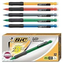 Wholesale CASE of 25 - Bic BicMatic Grip Mechanical Pencils-Mechanical Pencil,0.7mm,Rubber Grip,Nonrefill.,12/DZ,Asst. by BIC America