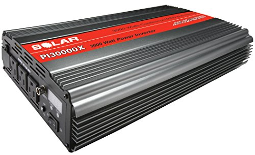 Clore Automotive SOLAR PI30000X 3000W Power Inverter with Triple Outlet plus Junction Block - Gray