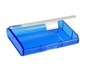 Amazon business card caddy 4x3 translucent blue with business card caddy 4quotx3quot translucent blue with colourmoves
