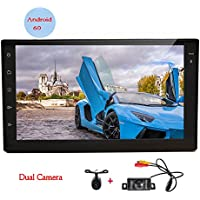 Android 6.0 Car Stereos with Quad-core CPU 7inch Full Touchscreen in Dash Double din Autoradio Bluetooth GPS Navigation Headunit WIFI Mirror Link USB system with Both Front & Backup Camera