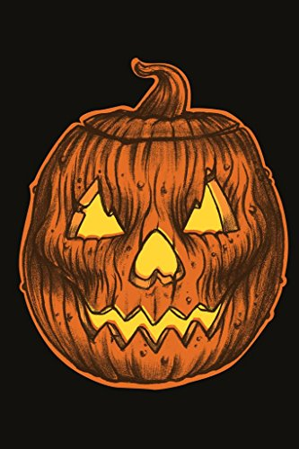 Glowing Carved Rotting Halloween Pumpkin Head Art Print Mural Giant Poster 36x54 -