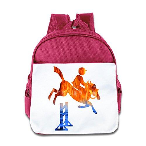 Equestrian Day Bag (Mostafa Equestrian Cartoon Custom Children Kids Girls Boys Baby School Bags Book Bags Backpack)