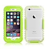Lime Green Salamander Waterproof Snowproof Sealed Capsule Case for iPhone 6 Plus / 6s Plus 5.5""
