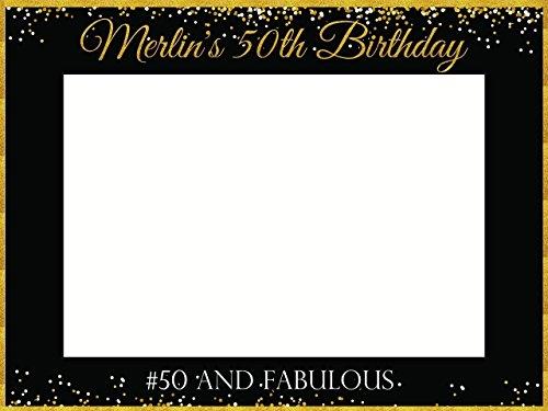 Custom Fifty & fabulous Photo Booth Frame - Sizes 36x24, 48x36 ...