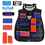 Kids Tactical Vest Kit for Nerf Guns N-Strike Elite Series, Adjustable Jacket Kit