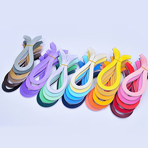 YURROAD Paper Quilling Kits 5mm Wide Paper with 33 Colors 3960 Strips and Slotted Tool (33 Pack 33 Colors) by YURROAD (Image #2)