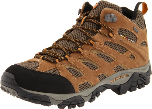 Merrell Men's Moab Mid Waterproof Hiking Boot,Earth,10 W US - Trail Hiker Boots