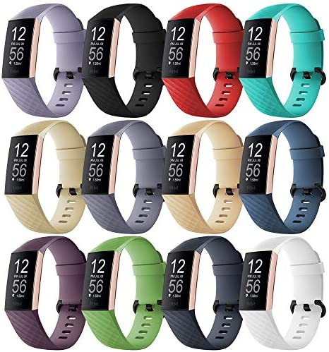 GinCoband 12PCS Charge 4 Bands CompatibleFitbit Charge 4Fitbit Charge 3 and Charge 3 SE for Women Men (12-Pack Small)