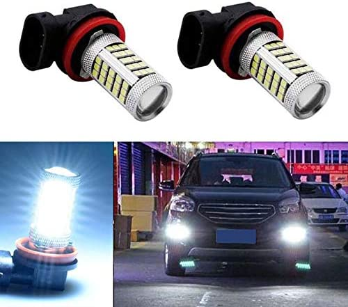 RETYLY 1 Pcs H11 H8 H9 Blanc 6000K 850Lm 2835 66Smd Auto LED Lampe de Brouillard Day Time Running Light pour