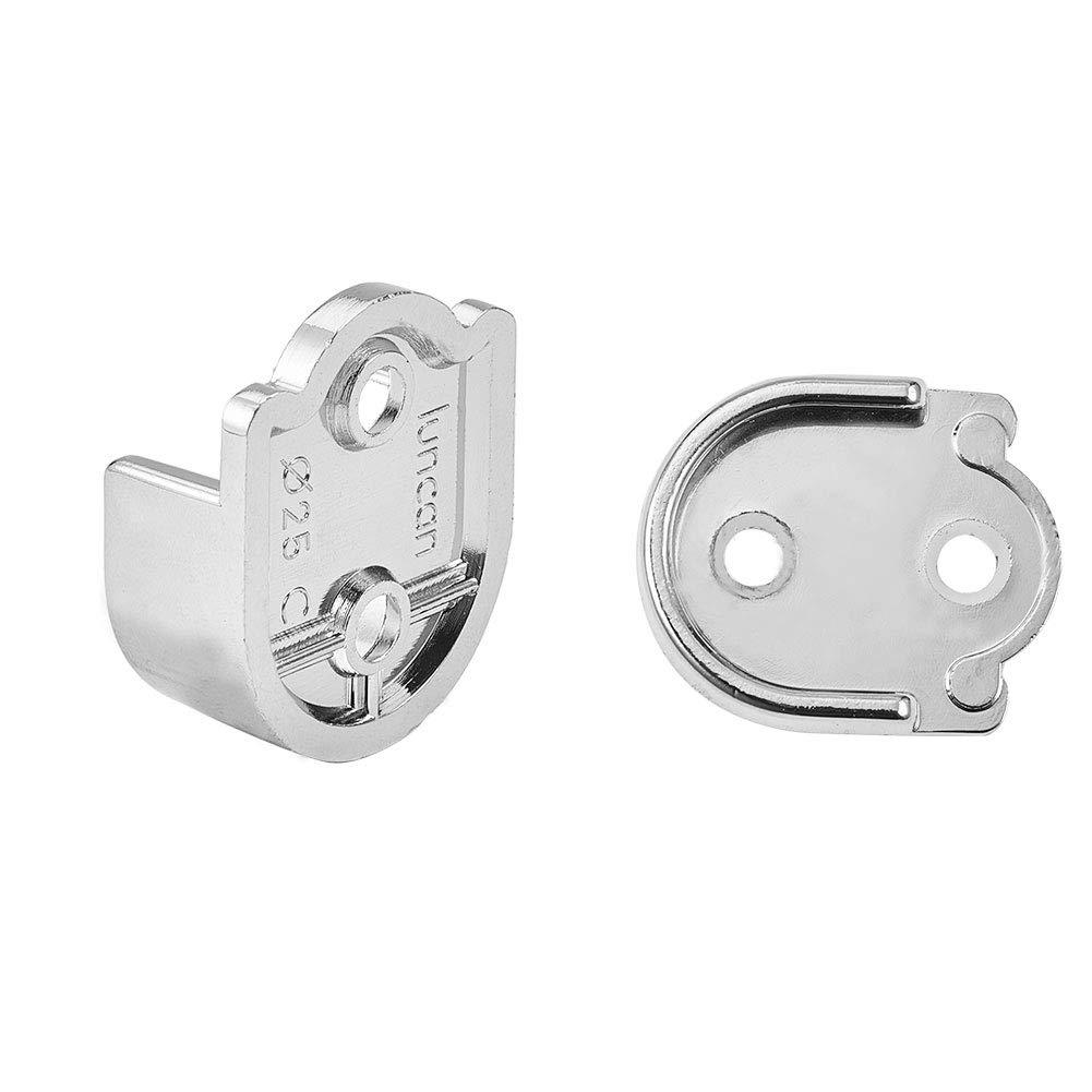 2 unidades, 25 mm de di/ámetro INCREWAY Soporte para barra de armario de aleaci/ón de zinc