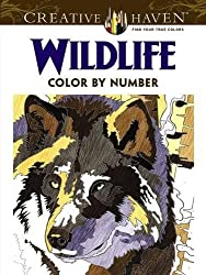 Creative Haven Wildlife Color by Number Coloring Book (Adult Coloring)