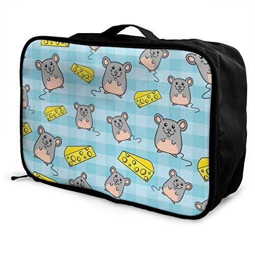450b033d4d9d Travel Bags Mouse Cheese Portable Handbag Vintage Trolley Handle Luggage Bag