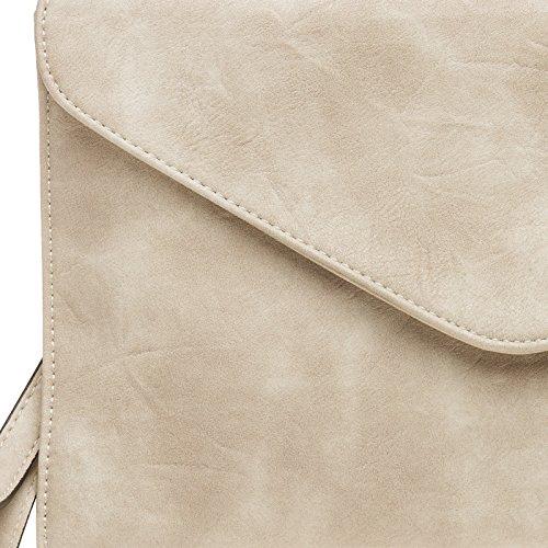 CASPAR Fashion - Cartera de mano con asa para mujer Beige