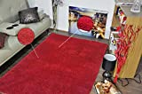 Msrugs Super Soft Quality Faux Fur Rug, Fuzzy Rug, Shag Area Rug, Shag Carpet, Made from Turkey, Perfect Shagy Rugs for Living-Room, Bedrooms, Kid's Room, Nursery Room, Red