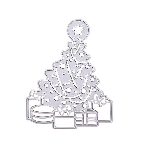 SUPVOX Árbol de Navidad de Corte de Metal Muere Plantilla de Plantilla de Bricolaje Molde para