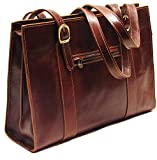Floto Roma Shoulder Bag in Vecchio Brown Italian Calfskin Leather