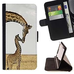 - Keep calam and Love Giraffe - - Monedero pared Design Premium cuero del tir?n magn?tico delgado del caso de la cubierta pata de ca FOR LG Nexus 5 D820 D821 Funny House