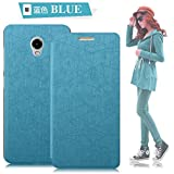 Tarkan Lenovo Vibe P1 / P1 Turbo Flip Cover - Leather Slim Flip Case with Convertible Back Stand [Blue]