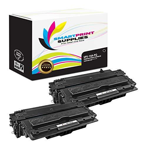 Smart Print Supplies Compatible 14A CF214A Black Premium Toner Cartridge Replacement for HP Laserjet Enterprise 700 M712 M715 Printers (10,000 Pages) - 2 Pack