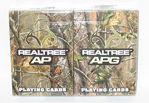 Bicycle REALTREE AP & APG Playing Cards -2 decks - Camouflage Playing Cards