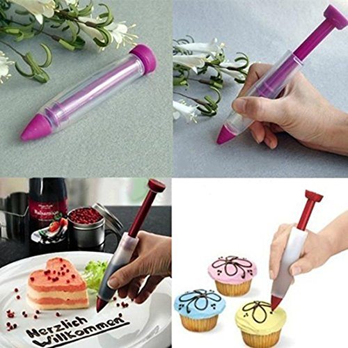 mk. park Cake Decorating Pen Chocolate Eco-Friendly Silicone Cake Tools (Color - In Indianapolis Shopping