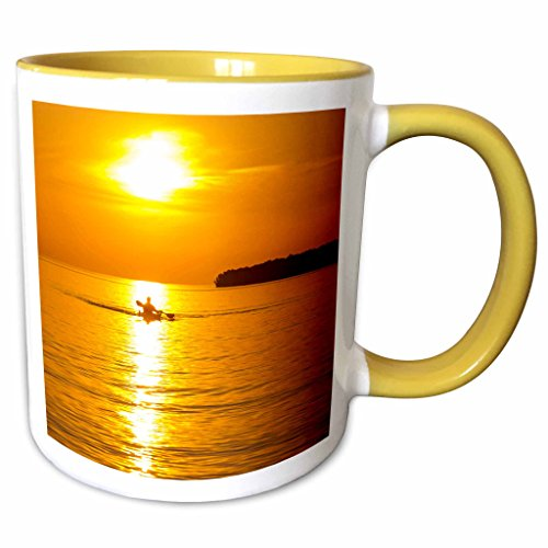 Sea Kayaking Lake Superior - 3dRose Danita Delimont - Kayaking - Kayak, Apostle Islands, Lake Superior, Wisconsin, USA - US50 CHA0063 - Chuck Haney - 11oz Two-Tone Yellow Mug (mug_148872_8)
