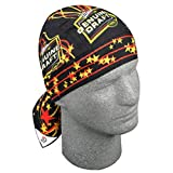 Beer Star Black Orange Biker Doo Rag Headwrap Skull Cap
