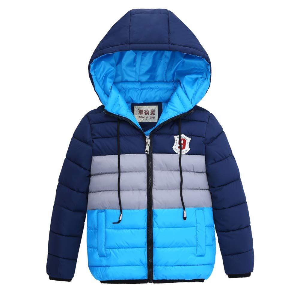 LSERVER Kinderkleidung Baumwollmantel Junge gro/ße Pelzkragen Dicken warme Winterjacke