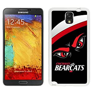 Fashion And Unique Samsung Galaxy Note 3 Cover Case NCAA American Athletic Conference AAC Football Cincinnati Bearcats 3 Protective Cell Phone Hardshell Cover Case For Samsung Galaxy Note 3 N900A N900V N900P N900T White Phone Case