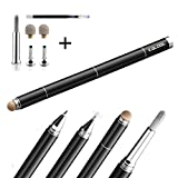 Kalogl Stylus 4 In 1 For All Capacitive Touchscreen Artist Stylus Pen Brush Drawing Gift (Black With packaging)