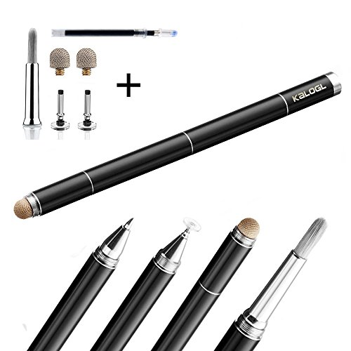 Kalogl Stylus 4 In 1 For All Capacitive Touchscreen Artist Stylus Pen Brush Drawing Gift (Black With packaging) by Kalogl