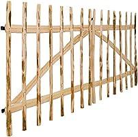 Tidyard Puerta Doble de Madera para Jardín,Puerta para Valla Verja Cercas o Cercados para Jardín Patio,Madera de Avellano,300x150cm: Amazon.es: Hogar