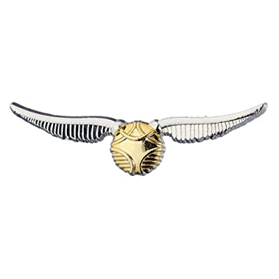 HARRY POTTER Golden Snitch Charm Pin Badge: Clothing