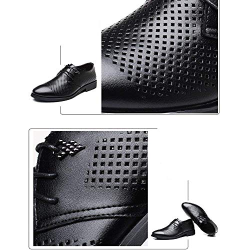 Orificios Vestido Transpirables Sandalias Para Y Verano Nuevo color Casuales De Tamaño Negro Cuero Hhgold Zapatos Yellowbrown Hombres 44 Huecas Con 6wqAFB5