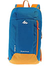 Decathlon Arpenaz 10 Liters Lighweight Backpack (Blue / Orange)