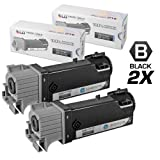 LD © Compatible Dell 331-0719 Set of 2 Black Laser Toner Cartridges for use in Dell 2150cdn, 2150cn, 2155cdn and 2155cn Printers, Office Central
