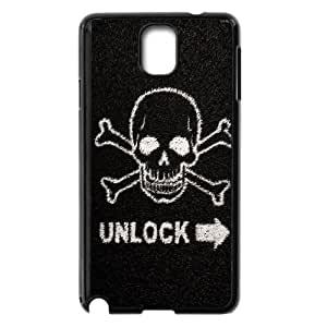Death Skull Lockscreen Samsung Galaxy Note 3 Cell Phone Case Black Protect your phone BVS_546816
