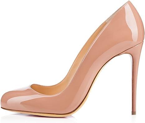 Eldof Womens High Heel Pumps Round Toe