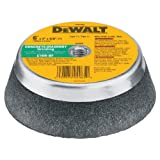 DEWALT DW4965 6-Inch by 2-Inch by 5/8-Inch-11 Concrete/Masonry Grinding Steel Backed Cup Wheel
