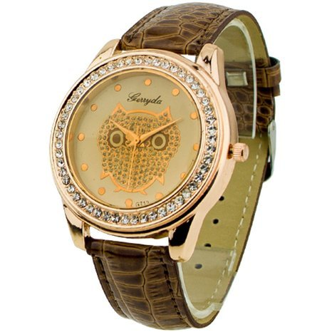 Angelo Caro WT0034 - Reloj para mujeres color marrón