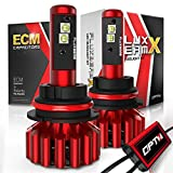 OPT7 Fluxbeam X 9007 LED Headlight Bulbs w/Arc-Beam Lens - 8,400LM 6000K Daytime White - All Bulb Sizes - 80w - 2 Year Warranty