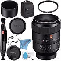 Sony FE 100mm f/2.8 STF GM OSS Lens SEL100F28GM + 72mm UV Filter + Lens Pen Cleaner + Fibercloth + Lens Capkeeper + Deluxe Cleaning Kit Bundle