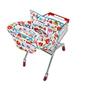 UNKU Multifunctional 2-in-1 Shopping Cart Cover High Chair Cover for Baby & Infant - Cozy White
