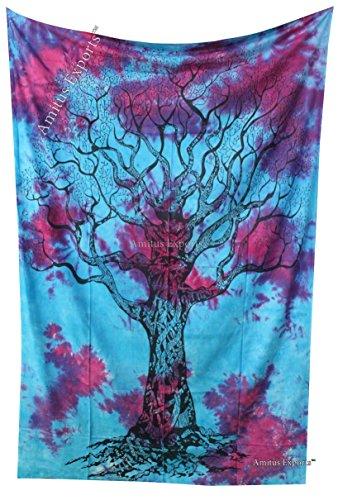 Amitus Exports(TM) Premium Quality 1 X Tie Dye Tree Of life 78