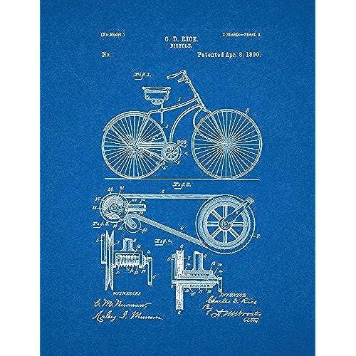 Blueprint artwork amazon bicycle patent print art poster blueprint 13 x 19 malvernweather Image collections
